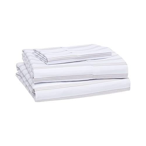 Book Cover AmazonBasics Lightweight Super Soft Easy Care Microfiber Sheet Set with 16