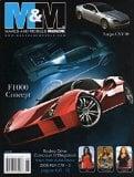 Book Cover M&M Makes & Models June 2007 Magazine LATIGO CSV10 F1000 Concept RODEO DRIVE CONCOURS D'ELEGANCE 2008 RUF CTR-3 Jaguar XJR-15 MERCEDES-BENZ SLR McLAREN Peraves Mono Tracer