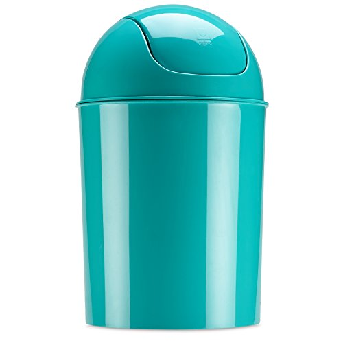 Book Cover Umbra Mini Waste Can 5L with Swing Lid, Surf Blue