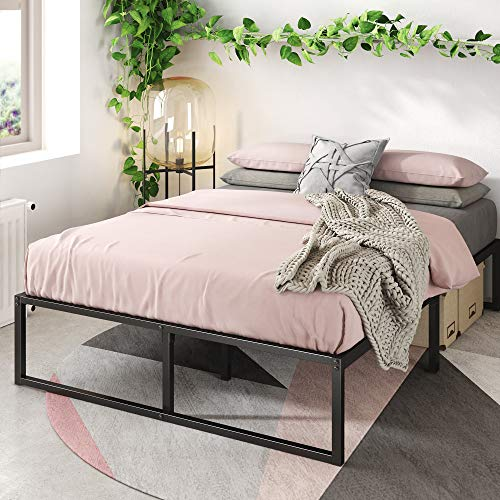 Book Cover Zinus Lorelei 14 Inch Platforma Bed Frame / Mattress Foundation / No Box Spring Needed / Steel Slat Support, Full