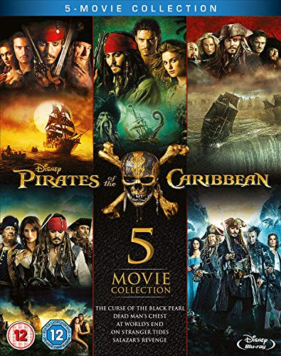 Book Cover Pirates of the Caribbean: 5-Movie Complete Collection [Blu-ray] [Region Free] [UK Import]