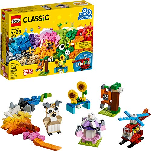Book Cover LEGO Classic Bricks and Gears 10712 Building Kit (244 Piece)