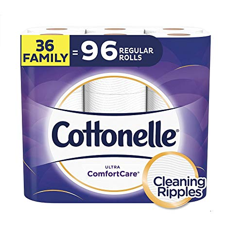 Book Cover Cottonelle Ultra ComfortCare Toilet Paper, Soft Biodegradable Bath Tissue, Septic-Safe, 36 Family+ Rolls