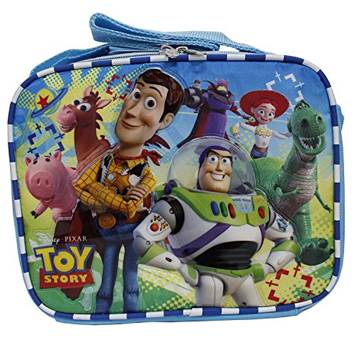 Book Cover Disney Toy Story New Light Blue Insulated Lunch Box Bag- Buzz Lightyear & Woody