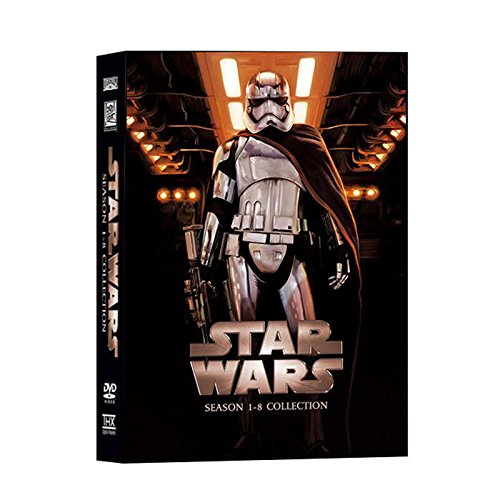 Book Cover Star Wars The Complete Saga Episodes 1 - 8 DVD Set