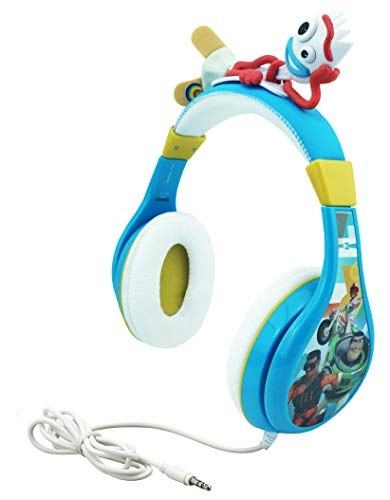 Book Cover Kids Headphones for Kids Toy Story 4 Forky Adjustable Stereo Tangle-Free 3.5Mm Jack Wired Cord Over Ear Headset for Children Parental Volume Control Kid Friendly Safe Perfect for School Home Travel