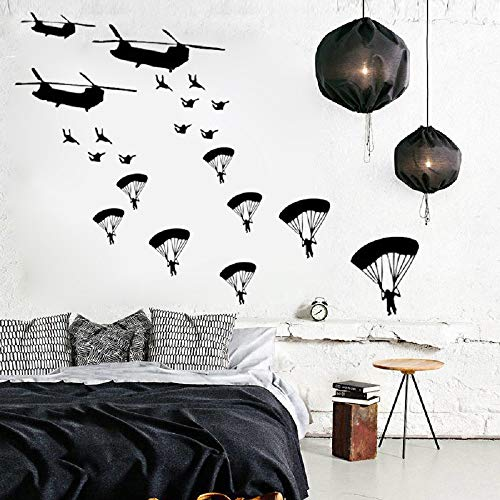 Book Cover  Cool Army Troops Wall Sticker Solider Stickers Vinyl Home Boys Kids Bedroom Soldiers Wall Art Decal for Living Room Home Decor