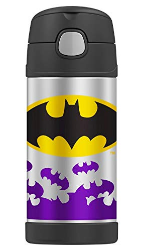 Book Cover Thermos Funtainer 12 Ounce Bottle (Batgirl Purple)