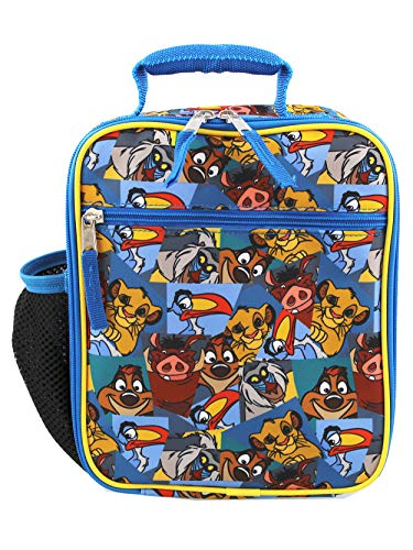 Book Cover The Lion King Boy's Girl's Soft Insulated School Lunch Box (Blue, One Size)